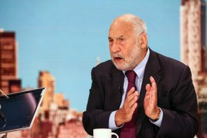 Joseph Stiglitz during a Bloomberg Television interview