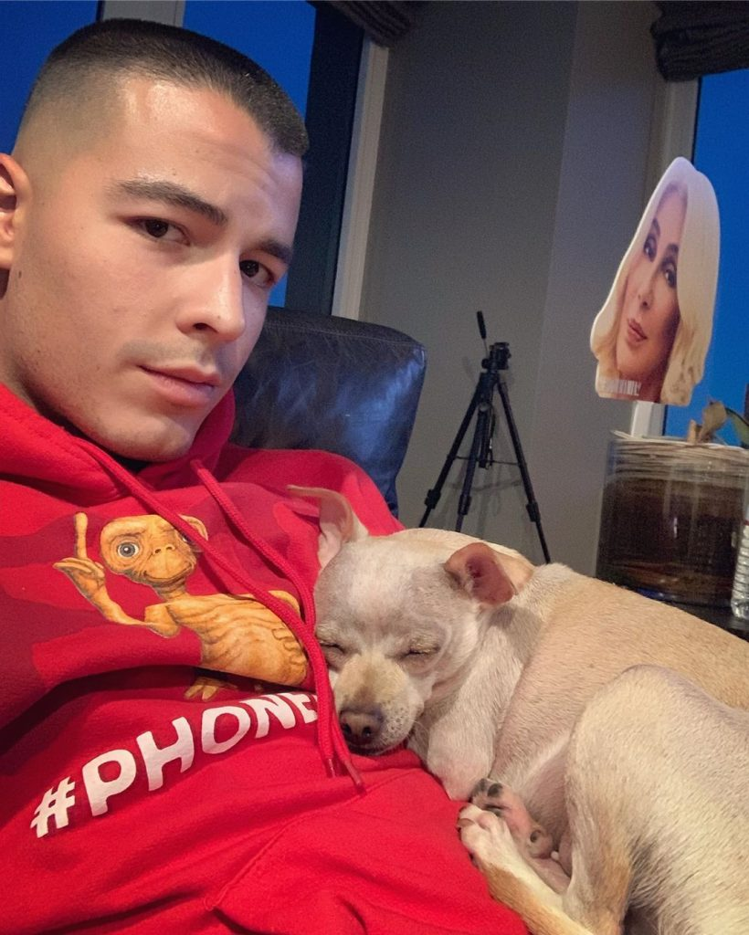 Manolo and his pet dog