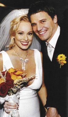 Jaime Bergman and David Boreanaz's wedding ceremony.