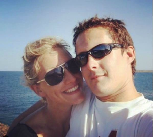 Becky Mantin and her husband.