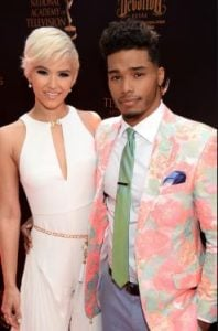 Rome Flynn and Kimiko arrived at the Daytime Emmy Award function in 2016.