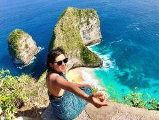 Emily Rios in Nusa Penida Island.