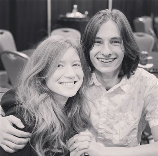 Jared Gilmore with his girlfriend, Merudy Scarlet.