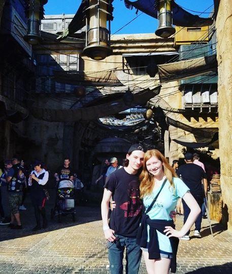Jared Gilmore and his beautiful girlfriend visiting Star Wars: Galaxy's Edge