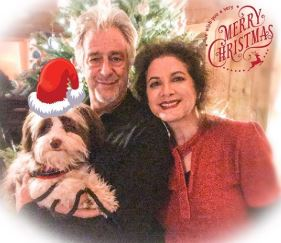 Saundra Santiago and her husband on the occasion of Christmas.