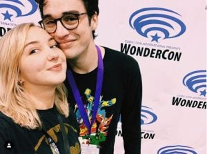 Audrey Whitby and her boyfriend volunteering for Wondercon.