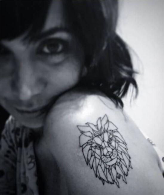Gemma Beason's mother lion tattoo.