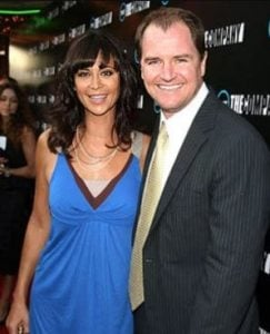 Adam Beason and her wife, Catherine Bell at The Company Premeire held at the Majestic Crest Theater in Hollywood, California, on 16th July 2007.