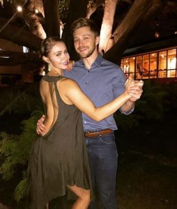 Ayla Kell dancing with her fiance.