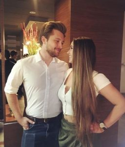 Ayla Kell and Sterling Knight's eye to eye contact.