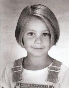 Childhood photo of Ayla Kell.