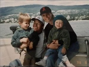 Kristina Wagner and her ex-husband, Jack Wagner with their two sons.