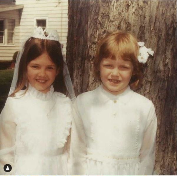 Childhood photo of Maura West with her lifelong friend.
