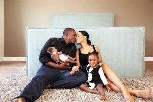 Sasha Gates sharing the love with her husband and her children.