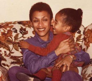 Childhood photo of Sasha Gates with her mother.