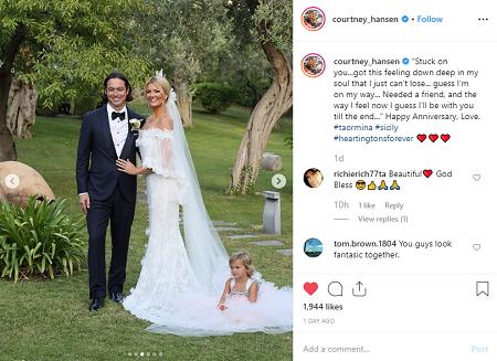 Courtney Hansen and Jay Hartington wedding