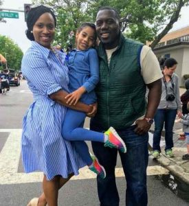 Ayanna Pressley with her husband Conan Harris and his daughter. husband, spouse, relationship, married, children