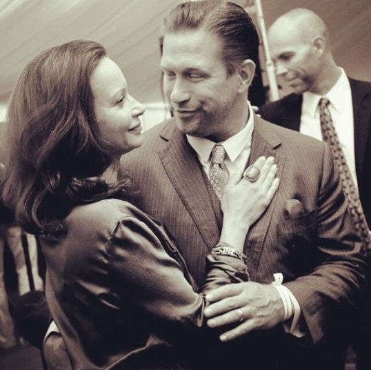 Stephen Baldwin and Kennya Baldwin while dancing.