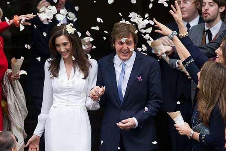 Paul McCartney and Nancy Shevell's wedding ceremony.