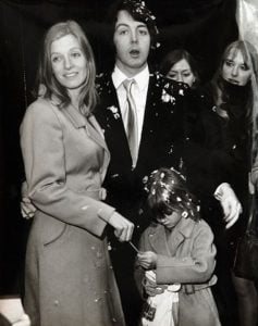 Paul McCartney and Linda Eastman's wedding ceremony.