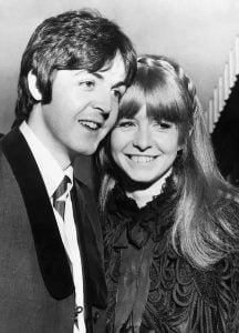 Paul McCartney and his ex-girlfriend, Jane Asher.