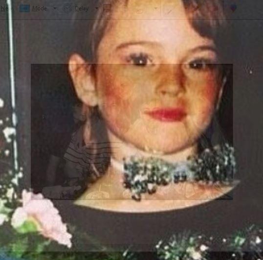 Childhood photo of Dina Lohan.