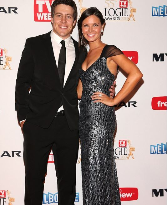 Charlotte Best and her ex-boyfriend, Andy Allen attending arrived at the Logie Awards at the Crown Palladium on 7th April 2013, in Melbourne, Australia.
