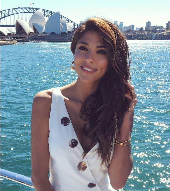 Pia Miller spending near the Sydney Opera House.
