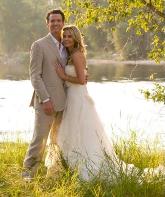 Gavin Newsom and Jennifer Siebel's wedding ceremony.