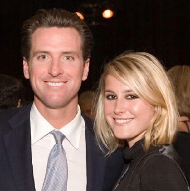 Gavin Newsom with his ex-girlfriend, Ruby Rippey-Tourk.