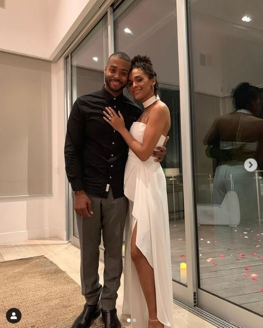 Briana Henry with her boyfriend, Kristopher Bowers going out for tonight's date.