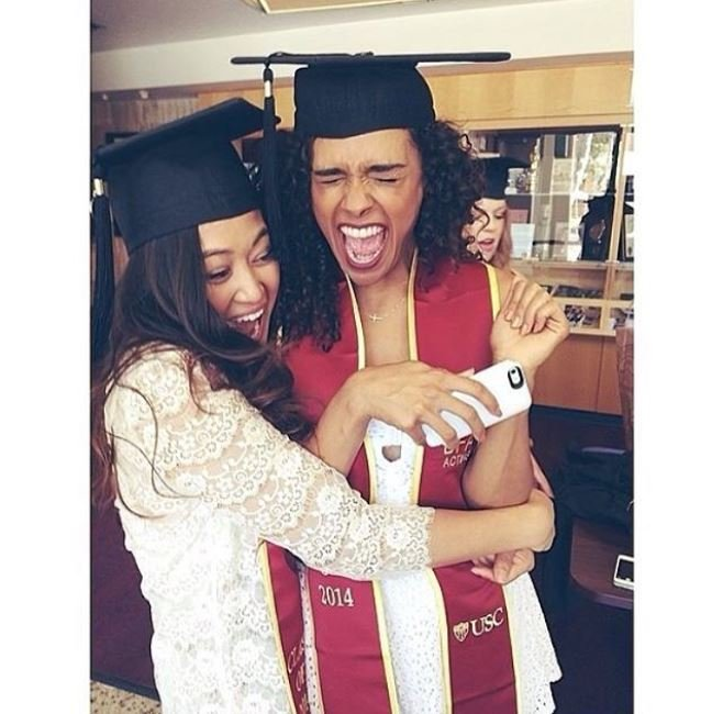 True Friendship: Briana Henry celebrating after graduating from University with her best friend.