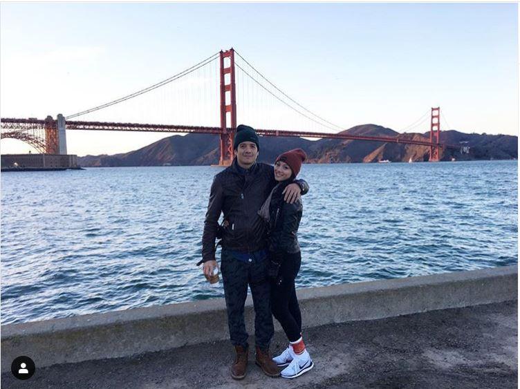 Melissa Paulo spending quality time with her boyfriend, Matthew Pickert in the Golden Gate Bridge.