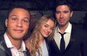 Olivia Rose Keegan with her boyfriend and co-actor.