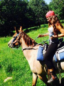 Victoria Konefal riding horse.