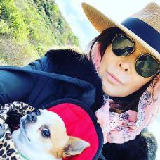 Lauren Koslow with her pet dog.