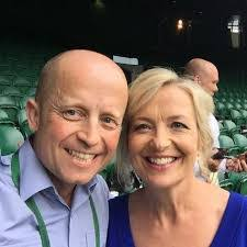 Carol Kirkwood and husband.