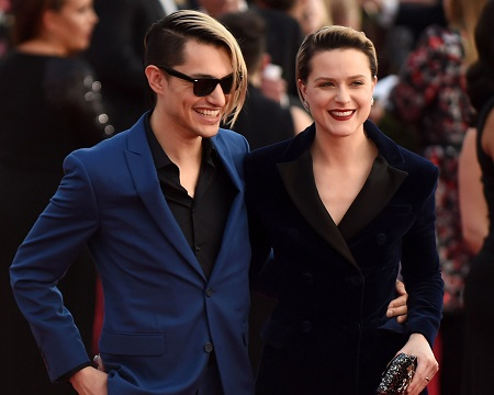 Zach Villa and Evan Rachel Wood at The 23rd Annual Screen Actors Guild Awards at The Shrine Auditoriu