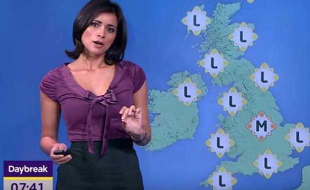 British Weather Forecaster, Lucy Verasamy. Image Source - Daily Star. career, professional life