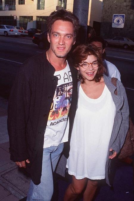 Actor Cameron Dye with his wife Laura San Giacomo,