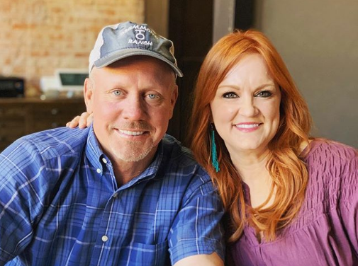 Ree Drummond and her husband.