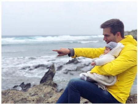 Marc Clotet with his baby