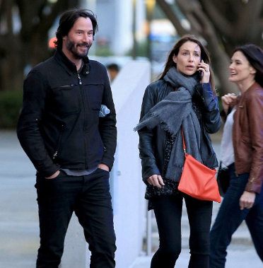 Keanu Reeves and his girlfriend Claire Forlani