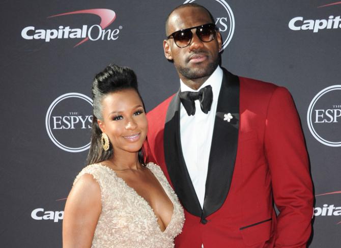 LeBron James and his wife Savannah Brinson