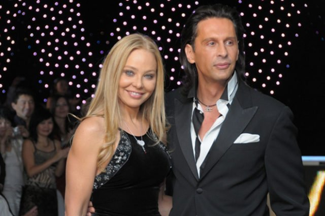 Ornella Muti with her boyfriend Fabrice Kerhervé