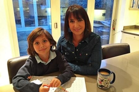 Lucy Owen and her son