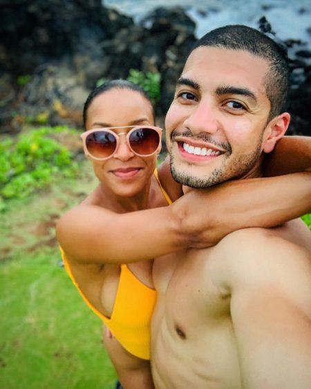 Sherry Aon and her partner enjoying vacation
