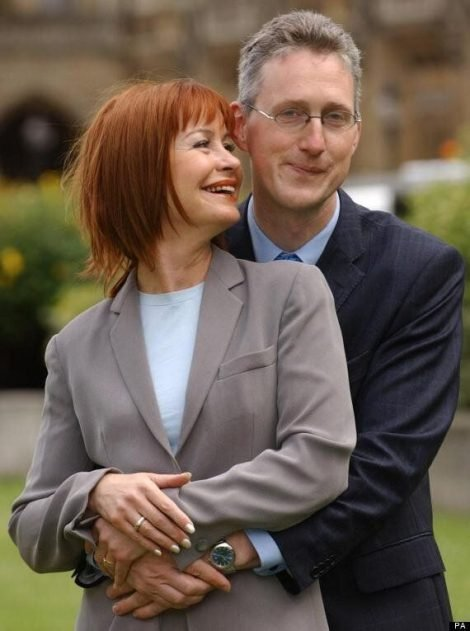 Sian Lloyd and Lembit Opik