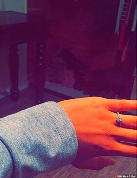 Taylor Giavasis her engement ring