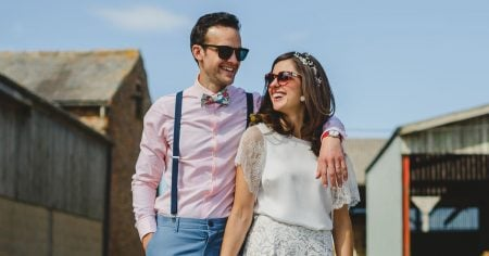Keeley Donovan and her husband on their wedding day